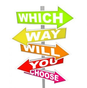 Questions on Arrow SIgns - Which Way Will You Choose?