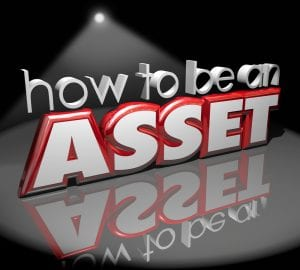 How to Be an Asset 3d Words Spotlight Stage Add Value