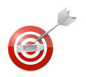 target resume illustration design over a white background