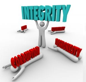 Integrity not Dishonesty