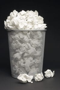 recruiter pet peeves wastebasket