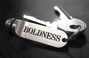 boldness keychain