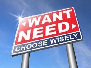 career goals-need vs. want